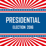 2016 USA presidential election campaign. Vector illustration Royalty Free Stock Images