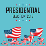 2016 USA presidential election campaign. Vector illustration Stock Images