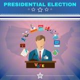 Usa Presidential Election Debates Banner Royalty Free Stock Photography