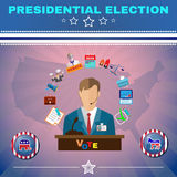 Usa Presidential Election Debates Banner Stock Photography