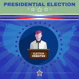 Usa Presidential Election Debates Banner Stock Photo