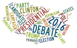 USA presidential election debates in word tag cloud Stock Image