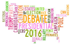 USA presidential election debates in word tag cloud Stock Photos