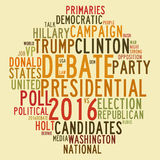 USA presidential election debates in word tag cloud Stock Images
