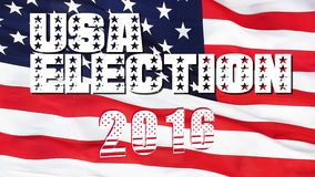 USA 2016 Presidential Election Flag. 4K Resolution Ultra HD UHD stock video footage