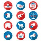 USA Presidential Election Icons Royalty Free Stock Photo