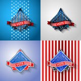USA Presidential election label set. vector illustration
