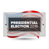 USA presidential election poster. 2016 USA presidential election poster with american flag Stock Image
