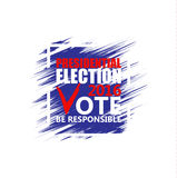 USA presidential election poster. Brush strokes background. Royalty Free Stock Images