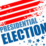 2016 USA presidential election poster. Vector illustration Royalty Free Stock Image
