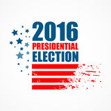 2016 USA presidential election poster. Vector illustration. EPS10 Stock Image