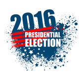 2016 USA presidential election poster. Vector illustration. EPS10 Stock Images