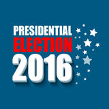 2016 USA presidential election poster. Vector illustration. EPS10 Royalty Free Stock Image
