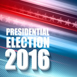 2016 USA presidential election poster. Vector illustration Stock Photography