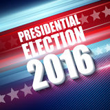2016 USA presidential election poster. Vector illustration Stock Photos