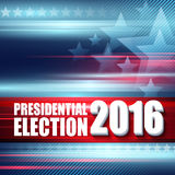2016 USA presidential election poster. Vector illustration. EPS10 Royalty Free Stock Photos