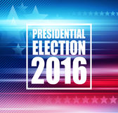 2016 USA presidential election poster. Vector illustration. EPS10 Stock Photo