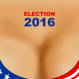 2016 USA presidential election poster. Woman breast bra.  Royalty Free Stock Photos