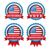 USA presidential election set 2016 vector badge. Ribbon royalty free illustration