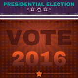Usa Presidential Election Vote 2016 Banner Royalty Free Stock Photo