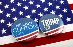 USA-presidentval 2016 Arkivbild