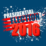 USA presidentvalaffisch 2016 också vektor för coreldrawillustration Arkivbild