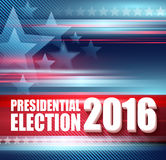 USA presidentvalaffisch 2016 också vektor för coreldrawillustration Royaltyfri Fotografi