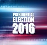 USA presidentvalaffisch 2016 också vektor för coreldrawillustration Royaltyfri Bild