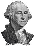 USA prezydent George Washington stawia czoło na jeden usa dolarowym rachunku makro- Obraz Stock
