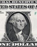 USA prezydenta George Washington portret na usa jeden dolarowy bi Zdjęcie Royalty Free
