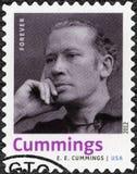 USA - 2012: przedstawienia Edward Estlin E e Cummings 1894-1962, Amerykańska poeta, malarz, eseista, autor i dramatopisarz, fotografia royalty free