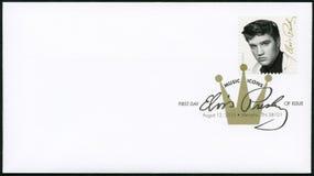 USA - 2015: przedstawienia Elvis Presley 1935-1977 piosenkarz, gitarzysta, muzyk, Muzyczne ikon serie Obrazy Royalty Free