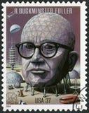 USA - 2004: przedstawienia Richard Buckminster Bucky folarz 1895-1983, architekt, projektant i nowator, obrazy stock