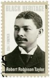 USA - 2015: przedstawienia Robert Robinson Taylor 1868-1942, Amerykański architekt, czarny dziedzictwo fotografia royalty free
