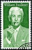 USA - 1987: przedstawienia William Cuthbert Faulkner 1897-1962, powieściopisarz, literackie sztuk serie zdjęcie royalty free