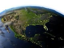 USA przy nocą na planety ziemi Zdjęcie Stock