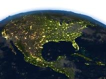 USA przy nocą na planety ziemi Fotografia Royalty Free