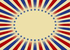 USA radial background Royalty Free Stock Image