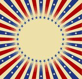 USA radial background Stock Image