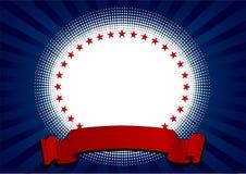 USA radial background Royalty Free Stock Photo
