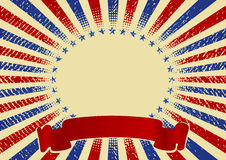 USA radiell bakgrund Arkivfoto