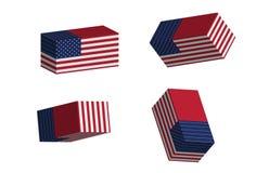 Usa rectangle Royalty Free Stock Photo