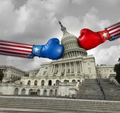 USA-Regierungs-Kampf stockfotos