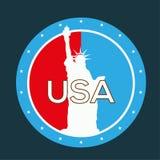 USA retro etikett Royaltyfri Bild