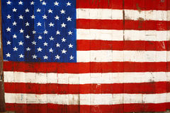 USA retro flag painting on wood Royalty Free Stock Images