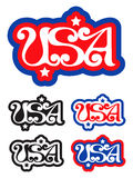 USA retro label Stock Photo