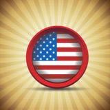 USA-Retro- Weinlesemarkierungsfahne Lizenzfreie Stockfotografie