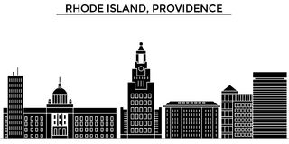 Usa, Rhode Island, Providence architecture vector city skyline, travel cityscape with landmarks, buildings, isolated Royalty Free Stock Images