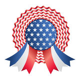 Usa ribbon or badge Royalty Free Stock Image