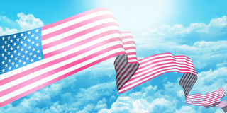 USA ribbon flag Stock Photography